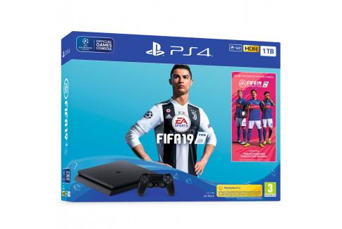 PlayStation 4 1TB Slim F chassis + FIFA 19 Stnd. Ed. + 14 Days PS Plus